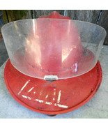 Vintage Red Fire Department Helmet With Plectron Face Shield - $38.00