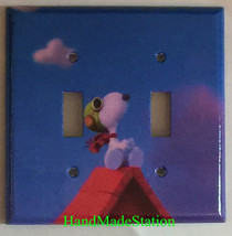 Peanuts Flying Snoopy Toggle Light Switch Outlet Wall Cover Plate Home Decor image 3