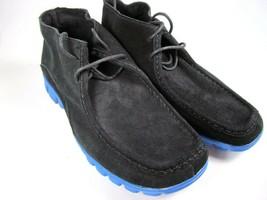 Black Suede Chukka NoSox Blue Sole Size 9.5 Mens Eur 42.5 - $21.34