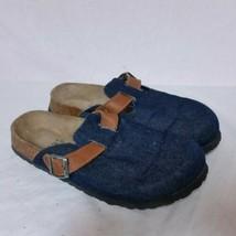 Betula Birkenstock Denim Clogs Blue Jean Mary Jane Sandals Flip Flop Shoes 40 - $59.99