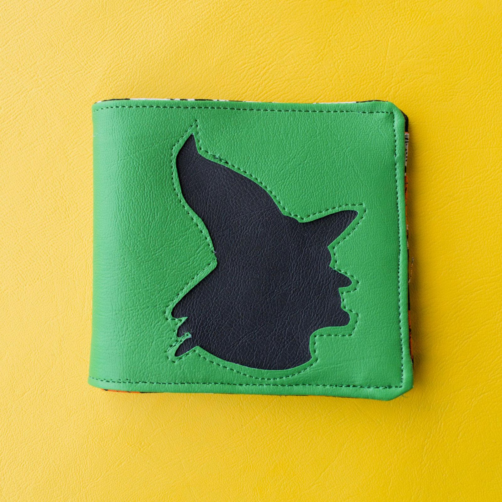 halloween witch wallet handmade vegan faux leather horror card money holder
