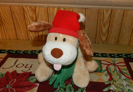 Hallmark Christmas Puppy Dog Shakes Tail and Barks Jingle Bells See Demo - $16.64
