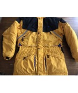 Mobius Yellow Winter Coat Jacket Size 16 Excellent Condition Parka Ski - $33.25