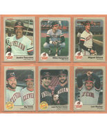 1983 Fleer Cleveland Indians Team Lot 18 Andre Thornton Mike Hargrove Ro... - $2.75