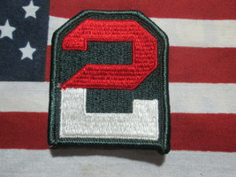 US Army 2nd Army Color Shoulder SSI Patch m/e - $5.00