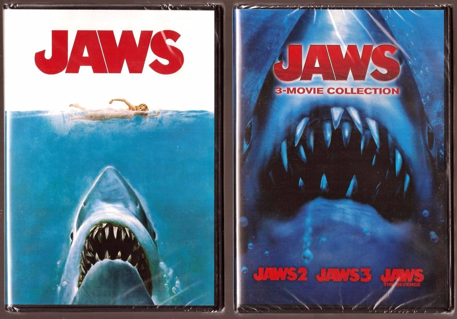 JAWS All 1-4 THE REVENGE DVD First Second Third Fourth Film Set Shark Horror Lot