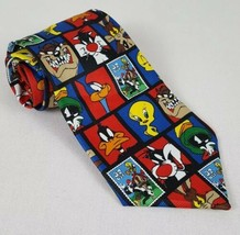 Mens Necktie Looney Tunes Stamp Collection 1997 United States Postal Ser... - $12.01