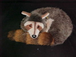 """13"""" Steiff Raggy Badger Sleeping Plush Toy # 1543/35 Made In Germany 1977 - $98.99"""