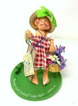 Annalee Doll Society Little Mae Flowers Logo Kid Girl 1996-1997 tags Vintage - $19.79