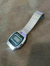Vintage Nelsonic LCD quartz watch select light H/M M/D/S M.Z. Berger-U U... - $9.99