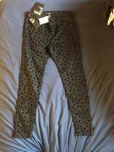 NWT H&M Black Animal Print  Cotton Blend Stretch Pants SZ 6 - $24.75