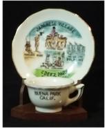 VINTAGE MINIATURE SOUVENIR TEA CUP & SAUCER FROM JAPANESE VILLAGE BUENA ... - $25.99