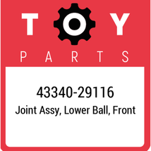 43340-29116 Toyota Ball Joint Lower, New Genuine OEM Part - $83.54