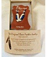 New Silver Hawk Jewelry Sterling Silver Bone Feather Mallard Duck Earrin... - $29.99