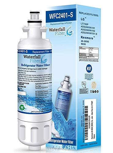 Waterfall Filter - Refrigerator Water Filter Compatible with LG LT700P & Compati