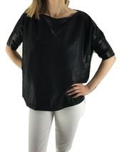 LAUREN RALPH LAUREN Black Boat Neck Dolman Sleeve Shimmer Top NWT $125 - PM - $22.29