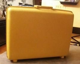 """Samsonite Vintage Suitcase """"Saturn II"""" Hardshell Mustard - $32.00"""