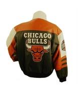 NBA CHICAGO BULLS LEATHER BOMBER JACKET 0439 - $269.99