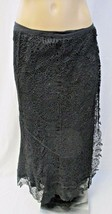 RALPH LAUREN Blue Label Black Wraparound Lace Midi Skirt - Size 4 - $75.00
