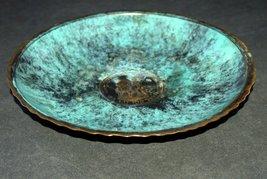 Israel Vintage Bronze Verdigris Tray Plate 1960's Isaiah 11 Signed Pal Bell image 4