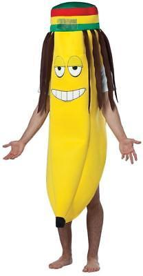 Banana Rasta Adult Costume Tunic Food One Size Halloween Party Unique GC1224
