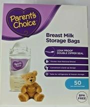 Breast Milk Storage Bags 50 count BPA Free Parents Choice - $12.99
