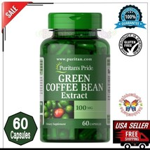 GREEN COFFEE BEAN Extract 100mg Weight Loss Blood Pressure Supplement 60... - $7.91
