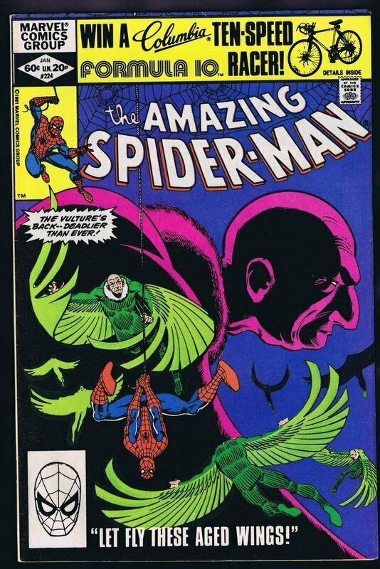 Primary image for Amazing Spider-Man #224 ORIGINAL Vintage 1982 Marvel Comics Vulture
