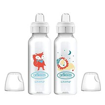Dr. Brown's Options+ Sippy Spout Baby Bottles, Fox & Lion, 8 Ounce, 2 Count - $11.89