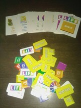 The Game Of Life Board Game Assorted Game Pieces And Cards - $3.49