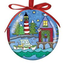 Cape Shore New England Hanging Ball Ornament High Gloss Resin - $12.50