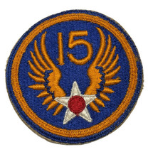 Original Wwii Usaaf U.S. Army 15th Air Force Cut Edge Color Patch Ng - $13.96
