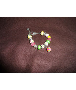 European bracelet with 15 beads and Vera Bradley Lilly Bell pattern dangle  - $25.50