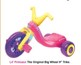 "Trike    Lil' Princess The Original Big Wheel 9"" Trike. - $95.79"