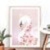 Nt nursery decor watercolor swan flower blush gold canvas painting baby girls.jpg 50x50 thumb200