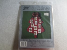 Candamar Set of 10 FOREST BABIES Counted Cross Stitch SEALED ORNAMENTS K... - $11.88