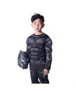 Marvel Black Panther Kids Cosplay Costumes With Mask Halloween Outfits - $34.65
