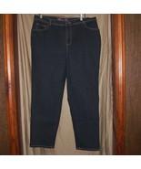 NWOT Gloria Vanderbilt Navy Denim Stretch 5 Pocket Jeans Pants Size 16 W - $16.80