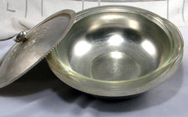 Continental Silver Hammered Aluminum Serving Dish with Glass Insert 1.5 ... - $9.49