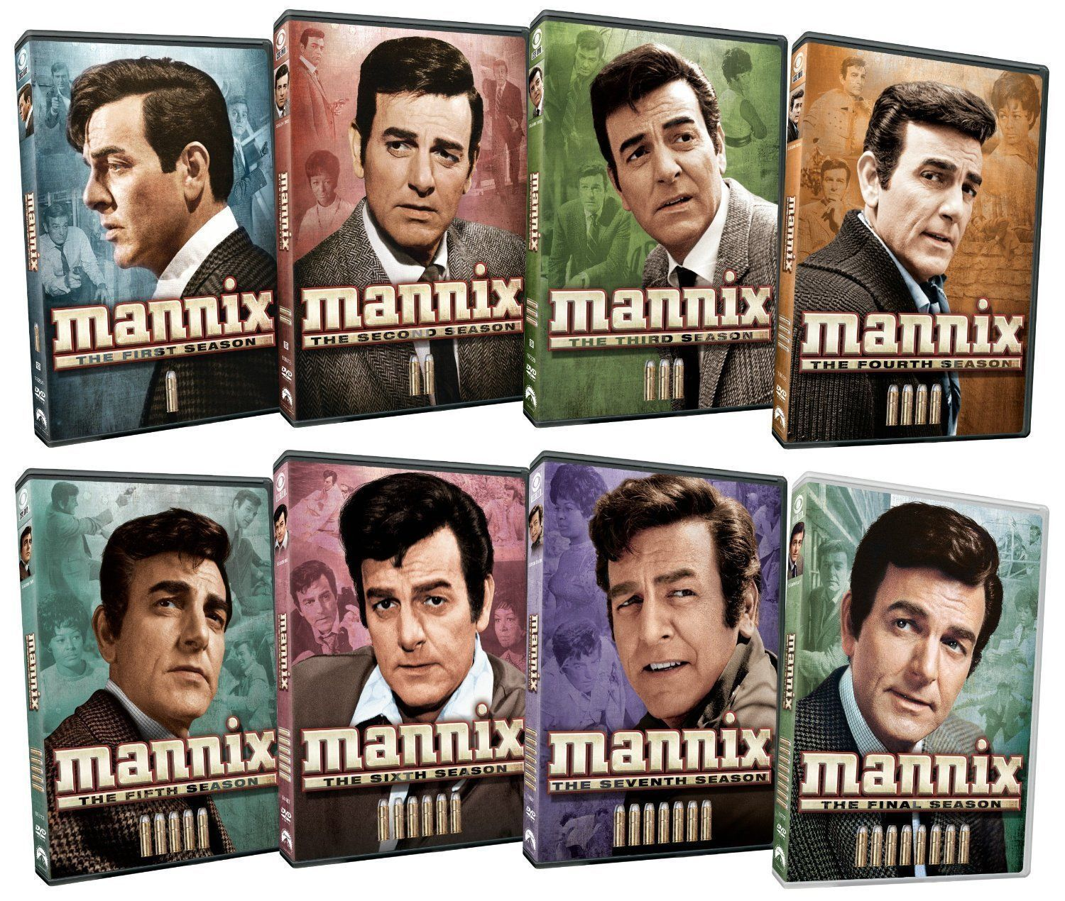 Mannix Complete Series  Season 1-8 (1 2 3 4 5 6 7 & 8) [DVD Sets New]