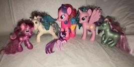 2010 My Little Pony Fashion Style Pinkie Pie + 5 Ponies Heart Flower Unicorn - $15.83