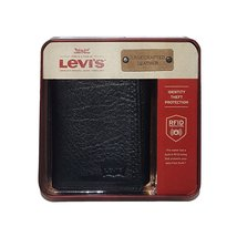 Levi's® 31LV110022 men's RFID trifold leather wallet black one size - $45.00