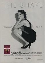 1992 Hanes Pantyhose Vintage Magazine Ad Page Sexy Girl Legs Black Dress - $4.47