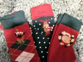 Tuffrider Christmas Socks Adults 3 Pack Size 7-9 image 1