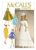 "McCall's Patterns M7267 / MP484 -11 1/2 "" Doll Clothes, One Size - $8.77"