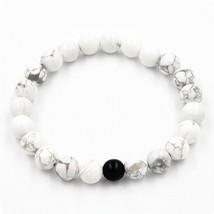 2 Pcs/Set Black White Couple Distance Bracelet Charms Yoga Meditation Braclet Fo - $15.53