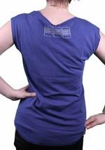 Bench UK Womens Lyme Blue Slot Machine Cherry Diamond T-Shirt BLGA2340 NWT image 2