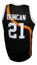 Tim Duncan #21 Roswell Rayguns Basketball Jersey Sewn Black Any Size image 4