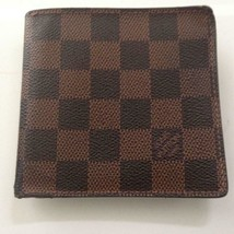 Authentic Louis Vuitton Damier Ebene Mens Wallet 4in x 4in(CA0112) - $237.45