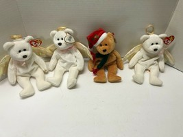 Ty Set of 4 HALO And Holiday Teddy Beanie's - $9.90